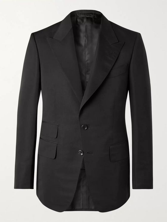 TOM FORD Shelton Cotton and Silk-Blend Suit Jacket