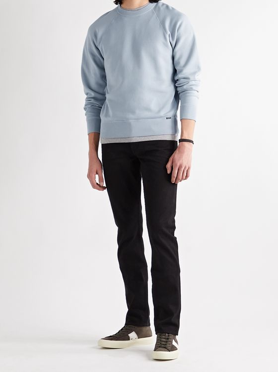 TOM FORD Garment-Dyed Fleece-Back Cotton-Jersey Sweatshirt