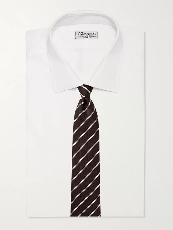 TOM FORD 8cm Striped Silk-Jacquard Tie