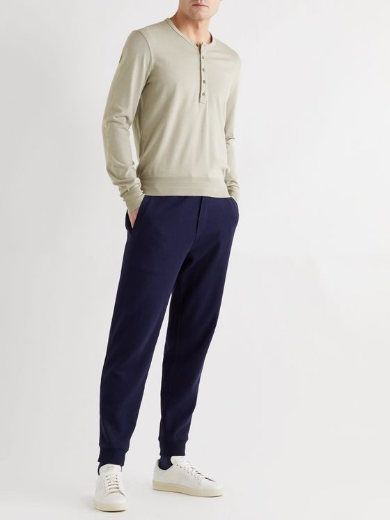TOM FORD Slim-Fit Cotton and Modal-Blend Jersey Henley T-Shirt