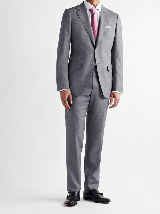 TOM FORD O'Connor Slim-Fit Super 110s Sharkskin Wool Suit Jacket