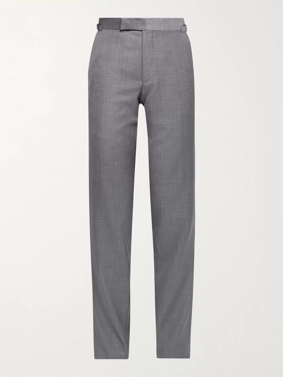 TOM FORD O'Connor Slim-Fit Super 110s Sharkskin Wool Suit Trousers