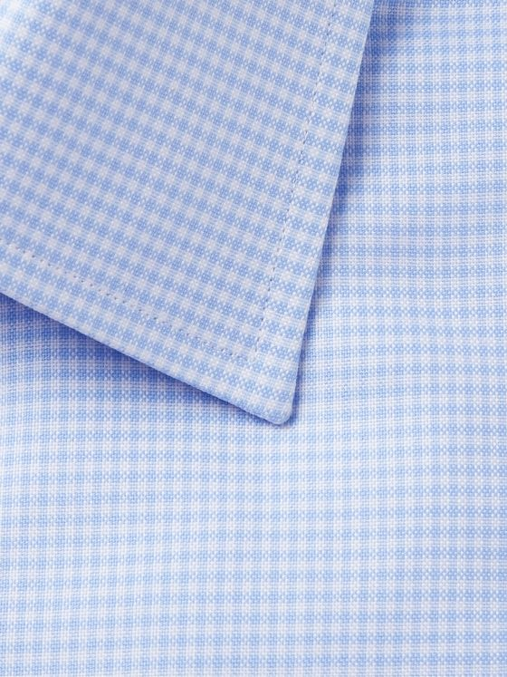 TOM FORD Slim-Fit Micro-Checked Cotton Shirt