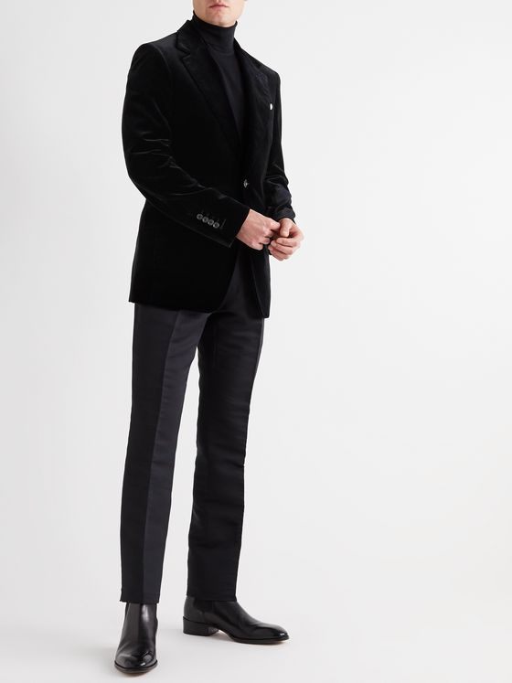 TOM FORD Shelton Slim-Fit Cotton-Velvet Blazer