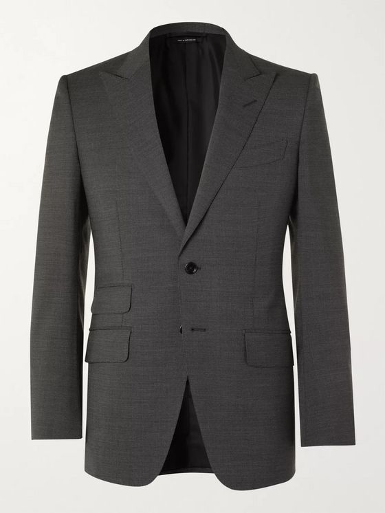 TOM FORD O'Connor Slim-Fit Wool-Blend Suit Jacket