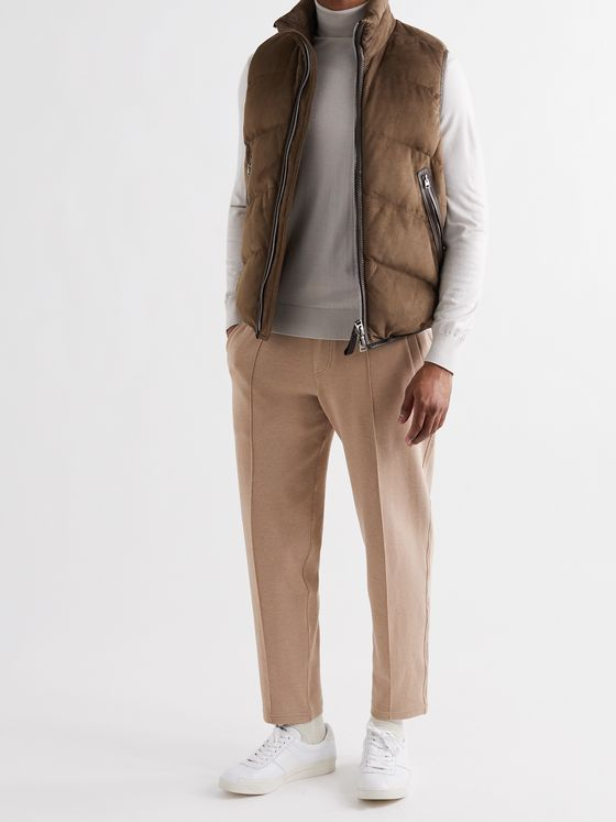 TOM FORD Quilted Suede Down Gilet