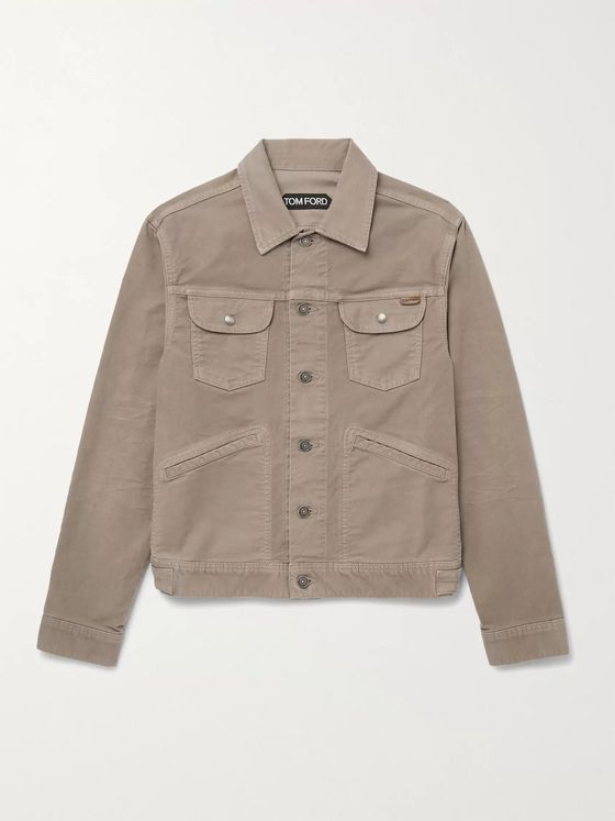 TOM FORD Stretch Cotton-Moleskin Jacket