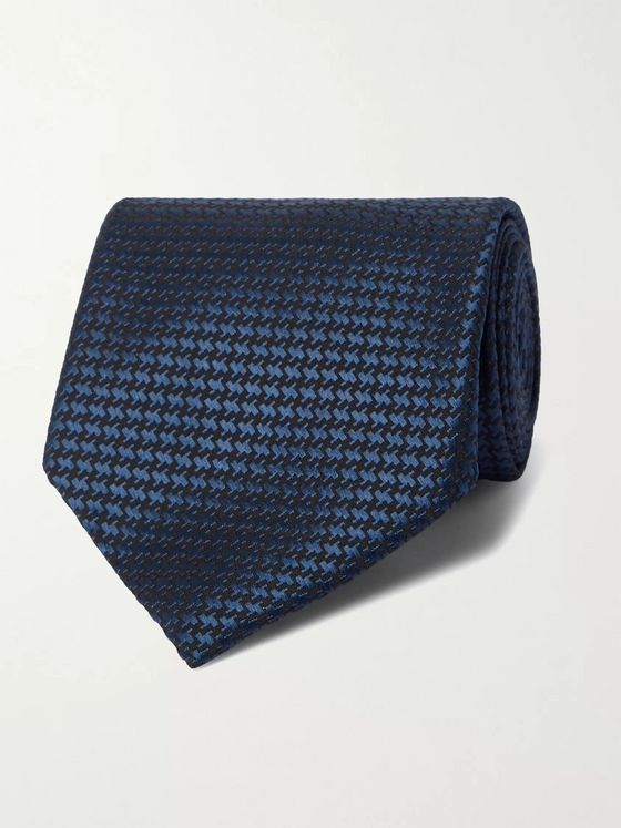 TOM FORD 8cm Puppytooth Silk-Jacquard Tie