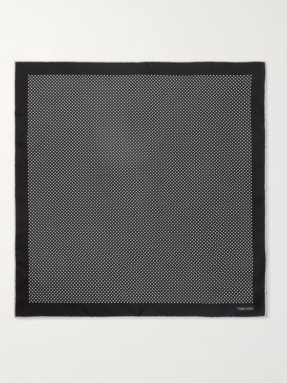TOM FORD Polka-Dot Silk Pocket Square