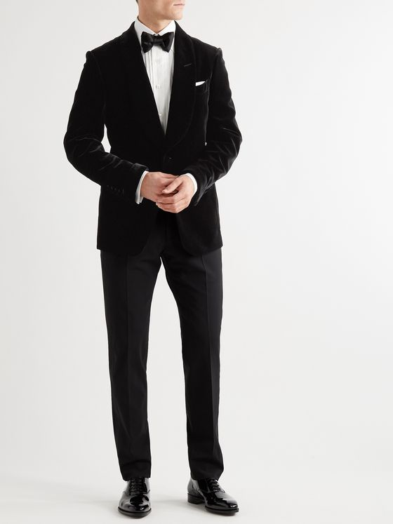 TOM FORD Shelton Slim-Fit Shawl-Collar Velvet Tuxedo Jacket