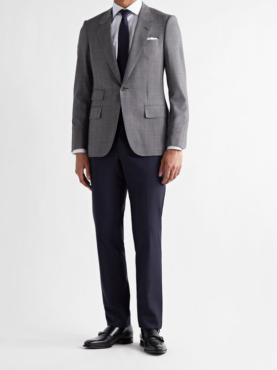 TOM FORD Slim-Fit Super 120s Wool Suit Trousers