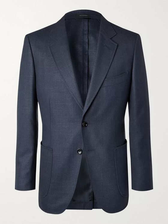 TOM FORD O'Connor Unstructured Wool and Silk-Blend Hopsack Blazer