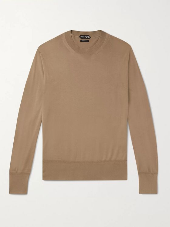 TOM FORD Slim-Fit Sea Island Cotton Sweater
