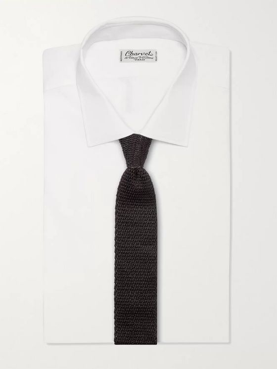 TOM FORD 7.5cm Dégradé Knitted Silk Tie