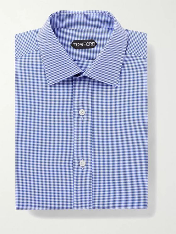 TOM FORD Gingham Cotton Shirt