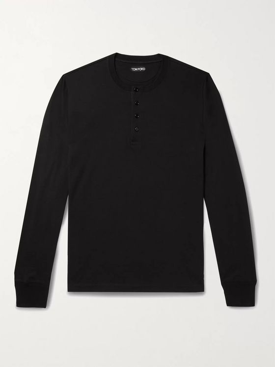 TOM FORD Cotton-Jersey Henley T-Shirt
