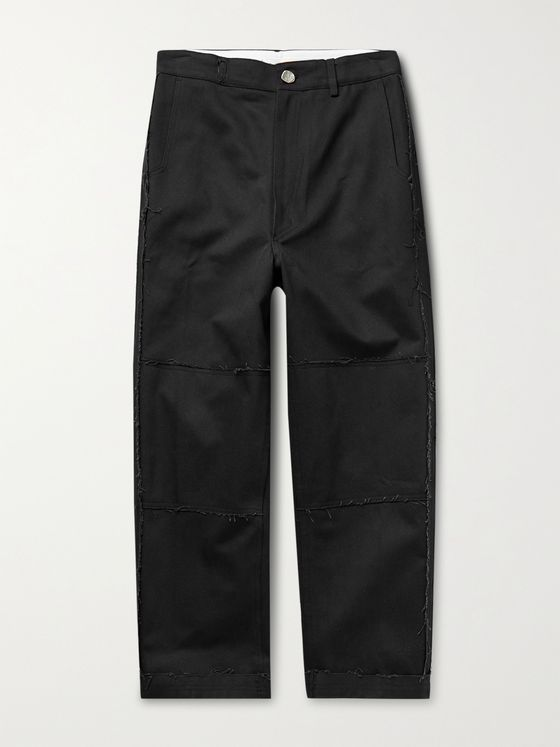 Ader Error Distressed Cotton-Twill Trousers