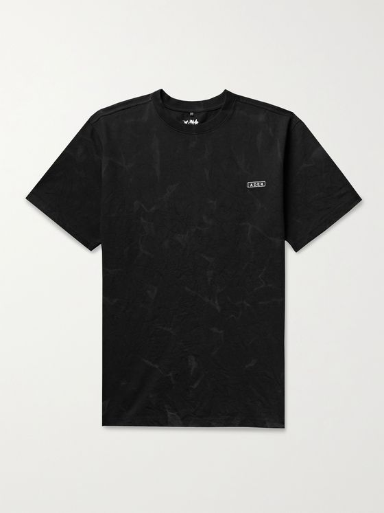 Ader Error Logo-Embroidered Printed Cotton-Blend Jersey T-Shirt