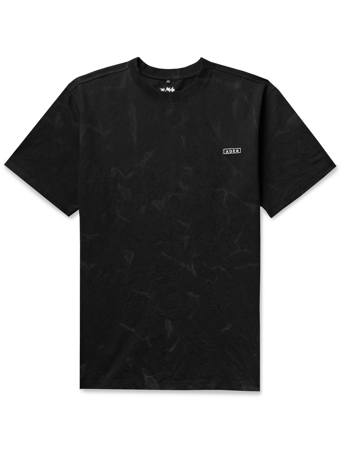 Ader Error Cottons LOGO-EMBROIDERED PRINTED COTTON-BLEND JERSEY T-SHIRT