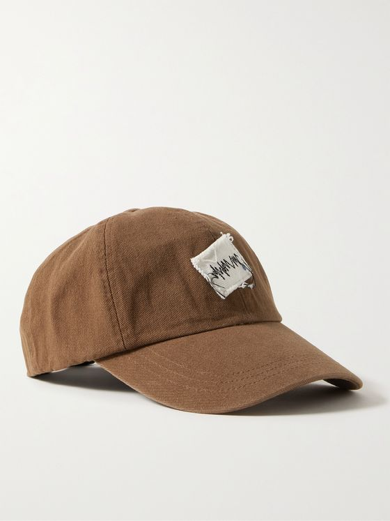 Ader Error Appliquéd Cotton-Twill Baseball Cap