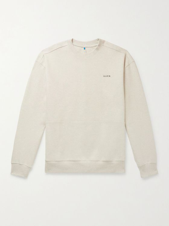 Ader Error Logo-Detailed Mélange Cotton-Blend Jersey Sweatshirt