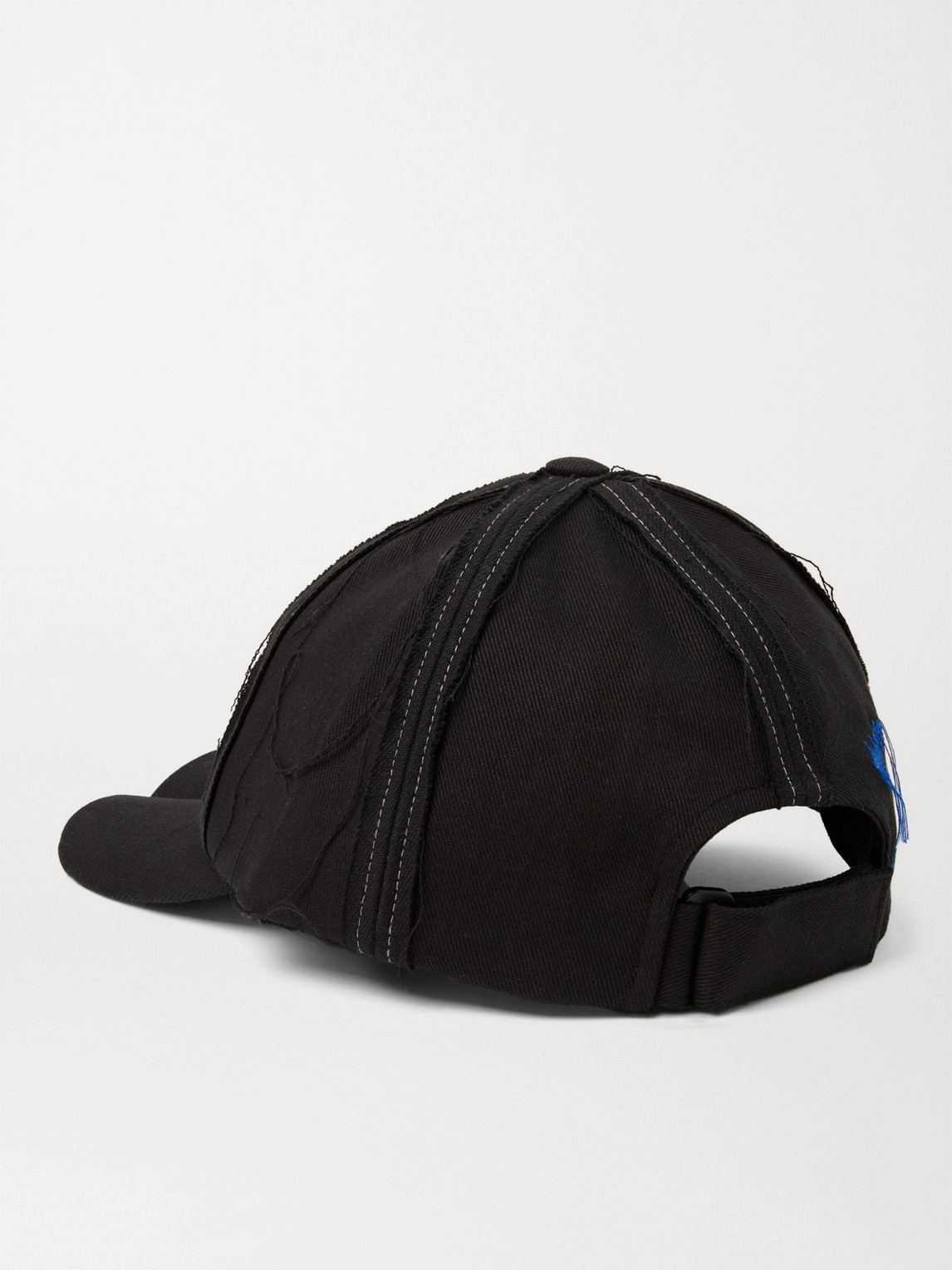 ADER ERROR Caps DISTRESSED LOGO-EMBROIDERED COTTON-BLEND TWILL BASEBALL CAP