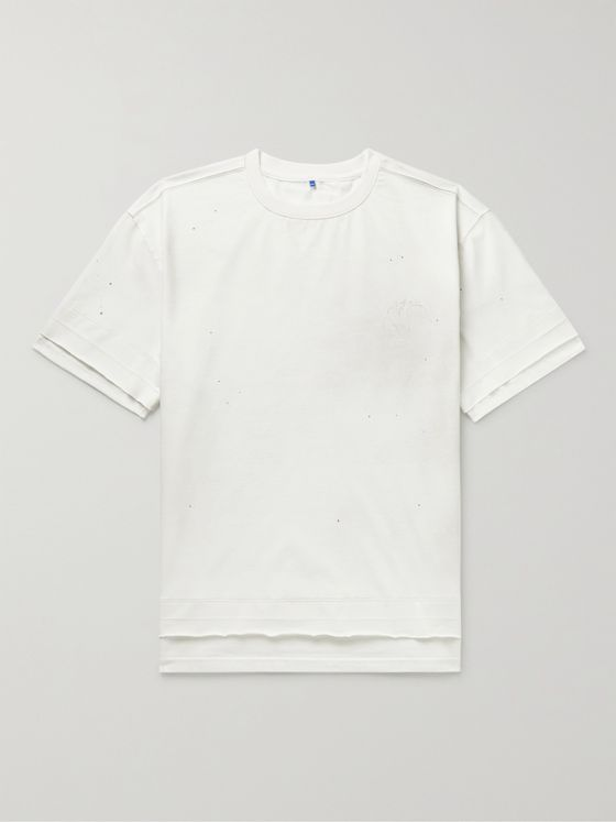 Ader Error Oversized Logo-Embroidered Cotton-Blend Jersey T-Shirt