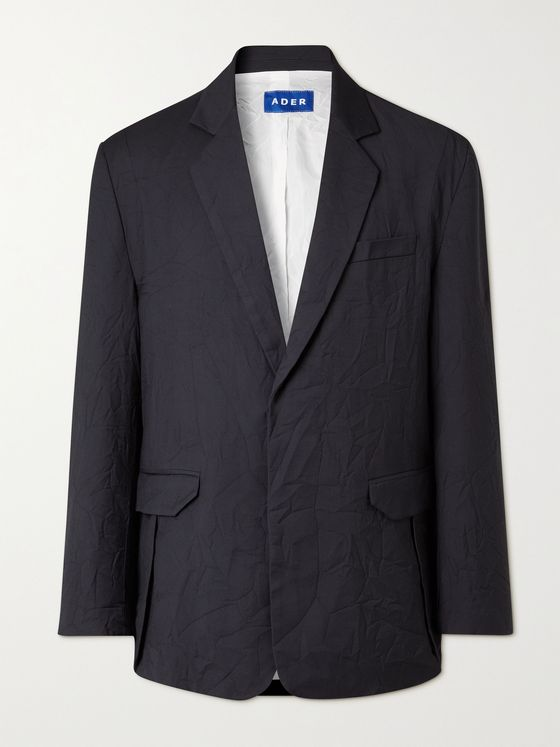 Ader Error Embroidered Textured-Wool Blazer