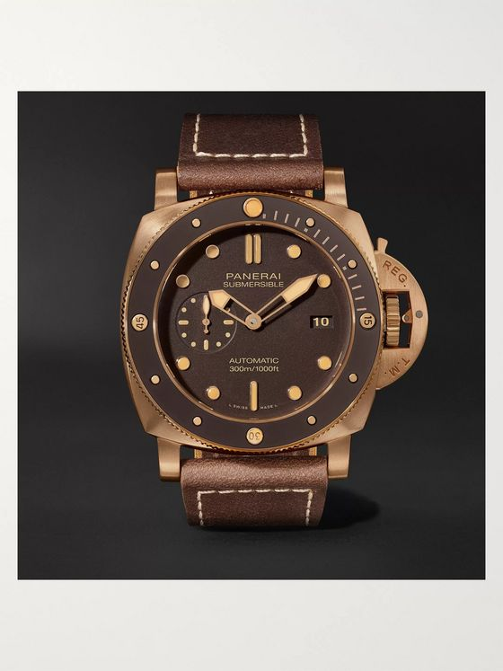 Panerai Submersible Automatic 47mm Bronze and Leather Watch