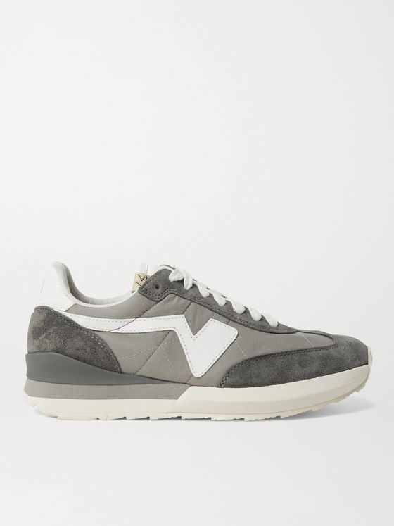 VISVIM FKT Runner Suede- and Leather-Trimmed Nylon-Blend Sneakers
