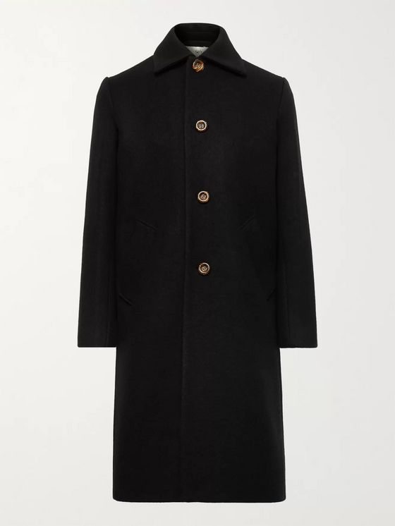 SÉFR Ian Brushed Virgin Wool and Cashmere-Blend Coat