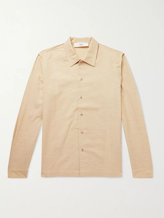SÉFR Rami Checked Cotton and Wool-Blend Shirt