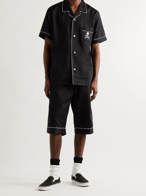 MASTERMIND WORLD Logo-Embroidered Piped Cotton Pyjama Set