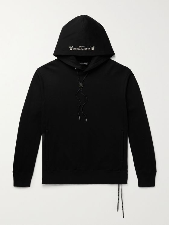 MASTERMIND WORLD Logo-Embroidered Loopback Cotton-Jersey Hoodie