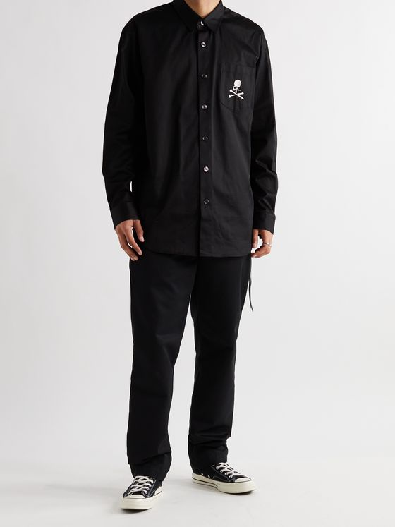 MASTERMIND WORLD Logo-Embroidered Cotton Shirt