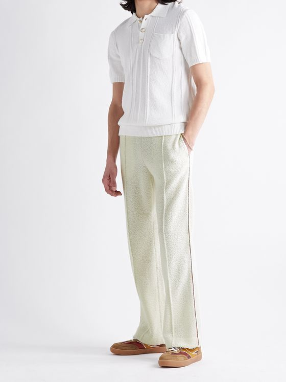 CASABLANCA Contrast-Trimmed Fleece Sweatpants