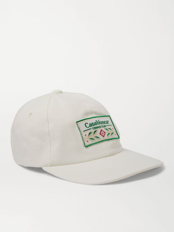 CASABLANCA Laurel Logo-Appliquéd Cotton-Twill Baseball Cap