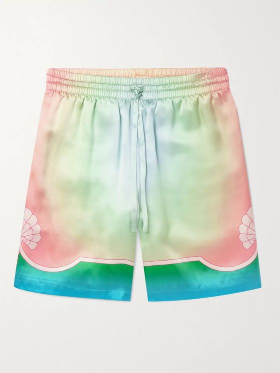 CASABLANCA Printed Silk-Satin Shorts