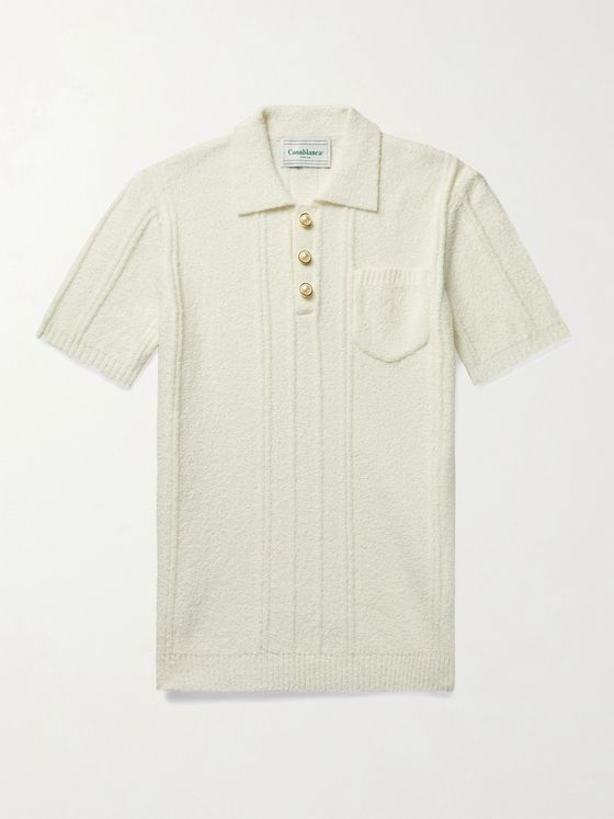 CASABLANCA Cotton-Blend Terry Polo Shirt