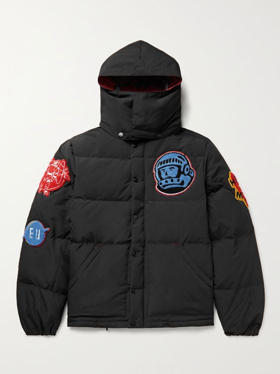 BILLIONAIRE BOYS CLUB Appliquéd Quilted Shell Hooded Down Jacket