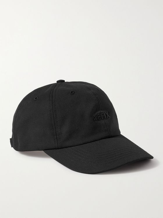 AFFIX Logo-Embroidered Canvas Baseball Cap