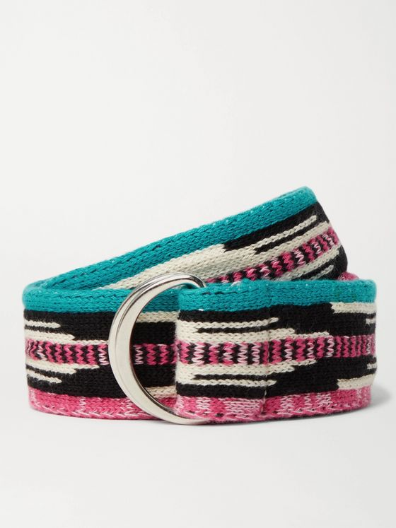ISABEL MARANT 4cm Knitted Cotton Belt