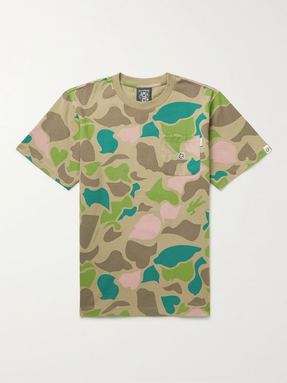 BILLIONAIRE BOYS CLUB Logo-Appliquéd Camouflage-Print Cotton-Jersey T-Shirt