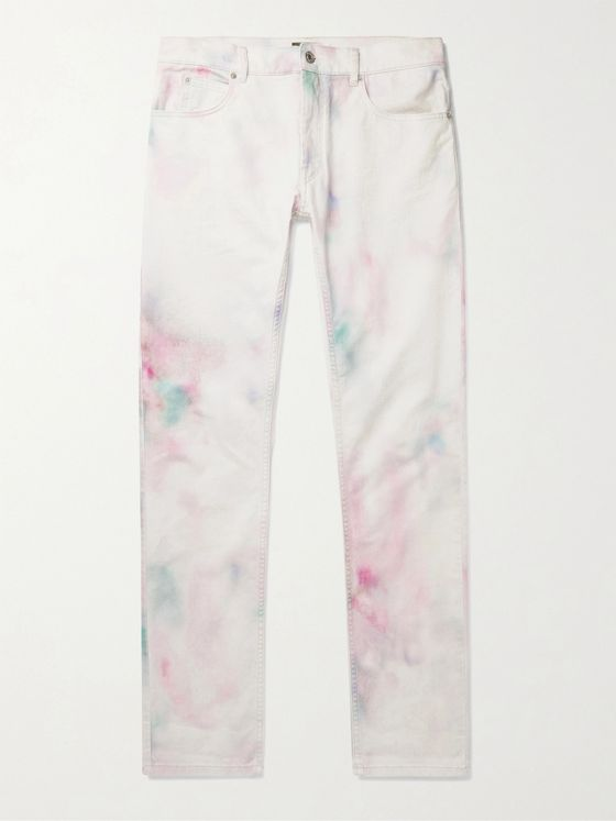 ISABEL MARANT Kanh Slim-Fit Tie-Dyed Stretch-Denim Jeans
