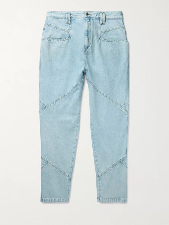 ISABEL MARANT Jowland Tapered Panelled Denim Jeans