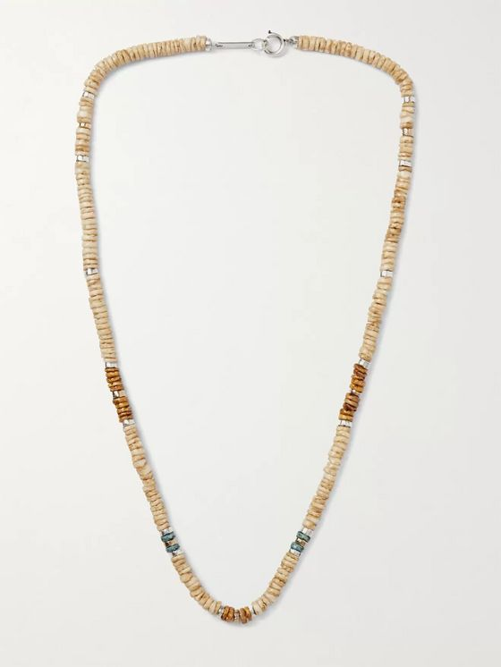ISABEL MARANT Moises Shell, Gold- and Silver-Tone Necklace