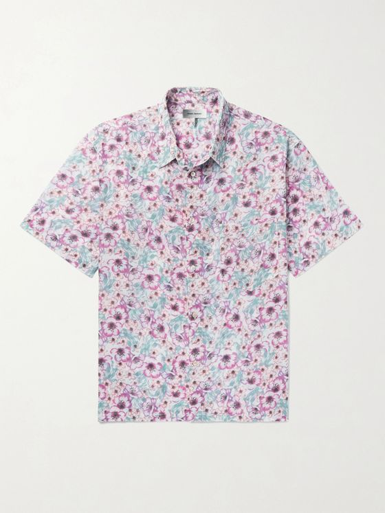 ISABEL MARANT Iggyni Floral-Print Cotton-Voile Shirt