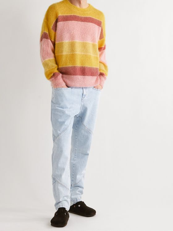 ISABEL MARANT Drussellh Striped Mohair-Blend Sweater