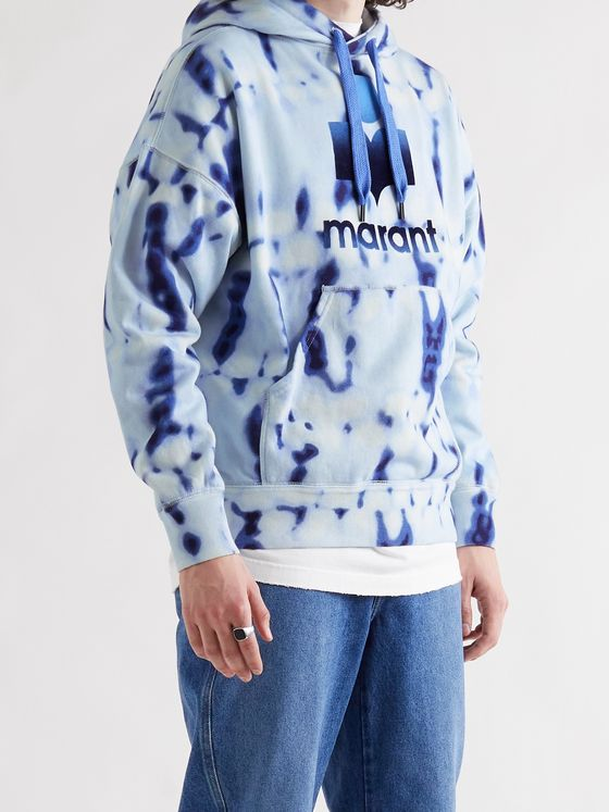 ISABEL MARANT Miley Tie-Dyed Fleece-Back Cotton-Blend Jersey Hoodie