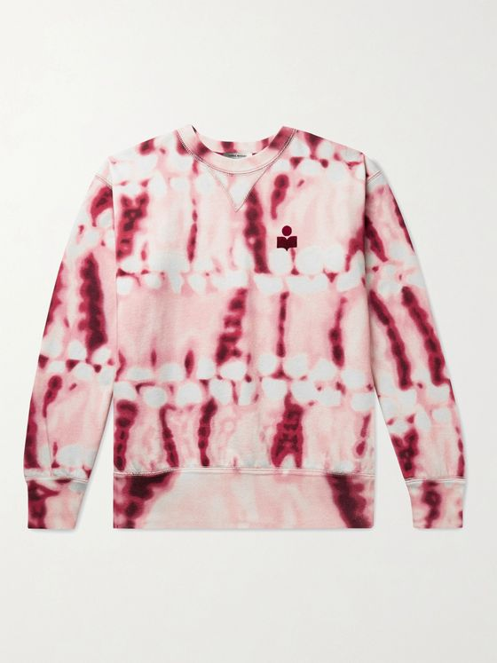 ISABEL MARANT Mike Tie-Dyed Fleece-Back Cotton-Blend Jersey Sweatshirt